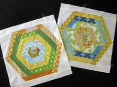 Hexagon bee blocks - Love circle. | Flickr - Photo Sharing!