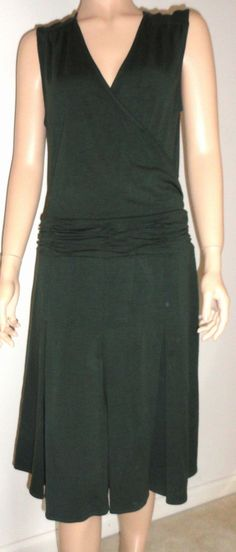 BCBG Maxazria green dress size 8 NWT Taragon Jumper Jersey Stretch Brand NEW   $29.95
