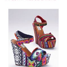 Victorias secret steve madden wedges