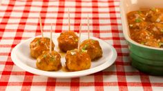 Sweet-and-Sour Pork Meatballs - Recipes - Best Recipes Ever - Freezing meatballs already in the sauce a few days or weeks ahead makes them an easy one-pot appetizer on the day you need them. Meatball Recipes, Pork Recipes, Cooking Recipes, Pork Meals, Freezer Meals, Yummy Recipes, Chicken Recipes, Recipies, Hamburger Dishes