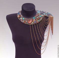 """Купить The """"Fantasy Colours"""" Necklace РЕЗЕРВ! - эксклюзив, bead dreams, натуральные камни, эполет"""