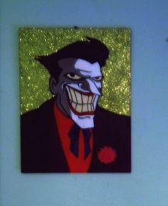 Glitter Joker Hand painted 30x40cm #joker Fanart, Joker, Glitter, Hand Painted, Painting, Fictional Characters, Jokers, Painting Art, Fan Art