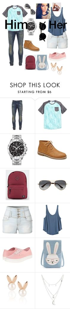 """""""Him vs her comment your favorite"""" by taylor8069 ❤ liked on Polyvore featuring Scotch & Soda, Univibe, TAG Heuer, Forever 21, Parkland, Ray-Ban, LE3NO, RVCA, Vans and Aamaya by priyanka"""
