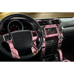 Auto Interior Skin - Camo Dash Kit - Break-up Pink