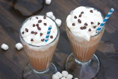 Frozen Hot Chocolate: Delicious on it's own, but the whipped cream, marshmallows and mini chips definitely add a nice touch!