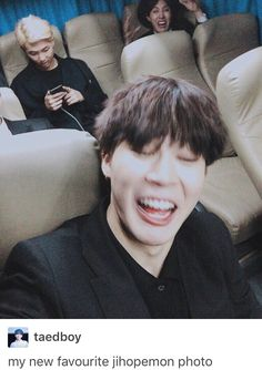 Rapmon, jhope and jimin here looks like me with my friends when we try to take a…