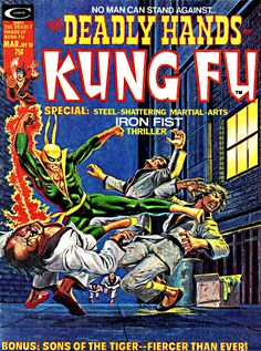 Deadly Hands of Kung Fu 10 cover with Iron Fist