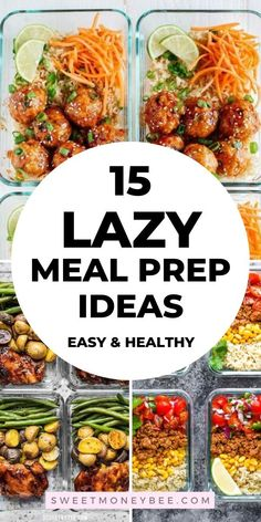 Best healthy meal prep ideas for the week for lunch or dinner. Look no further for the best meal planning recipes that save time. Beginners must try these meal prep recipes for weight loss that are fast and easy to make. Easy Healthy Meal Prep, Best Meal Prep, Good Healthy Recipes, Easy Meals, Healthy Weight, Healthy Snacks, Eating Healthy, Easy Lunch Meal Prep, Week Of Healthy Meals