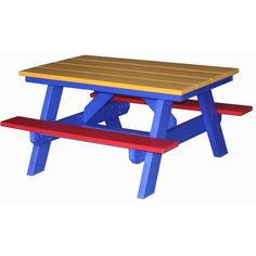 Amish Made Poly Split Bench Picnic Table Amish Picnic Tables - Polywood picnic table with benches