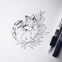 {@ Drawing_arts cat tattoo - Tattoos And Body Art {@ Drawing. Cat Tattoo Designs, Flower Tattoo Designs, Tattoo Flowers, Draw Flowers, Tattoo Drawings, Body Art Tattoos, Tattoo Cat, Tiny Tattoo, Cat Tattoo Black