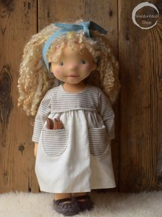 "https://flic.kr/p/H8Dt8S | Natural Fibre Art Doll 14"", OOAK, Lacy 