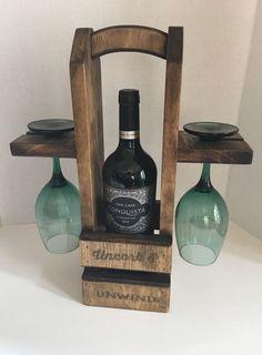 Rustic Wine Caddy Wine Carrier Wine Tote by JBarWcraftworks Handmade Home Decor Gift Ideas Anywhere Wine Rack Inspiration, Wine Caddy, Wine Tote, Wine Rack Design, Rustic Wine Racks, Pallet Wine, Wine Carrier, Wine Bottle Holders, Wine Bottles