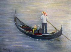 """Venetian Seranade"" original painting."