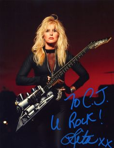 http://lita ford/ | Lita Ford Autographed Picture