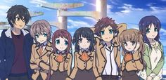 Tsumugu, Kaname, Manaka, Miuna, Hikari, Sayu and Chisaki. (Tsumugu is looking at Chisaki hehehe èwé)