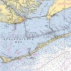Nautical charts showing St. George Island and Apalachicola.