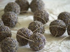 Lavender balls - great to hang from car mirror to scent car