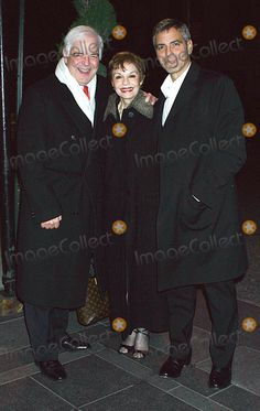 Actor George Clooney with his parents Nick Clooney and Nina Clooney in Manhattanl