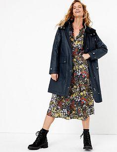 Buy the Longline Wax Look Coat from Marks and Spencer's range. Kids Wardrobe, Fall Wardrobe, Long Parka, Kids Coats, Denim Coat, Christmas Shopping, Long A Line, Knitwear, Tricot