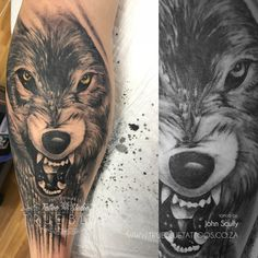 Wolf by John Scully Professional Tattoo, Scully, Tattoo Studio, Wolf, Tattoos, Blue, Tatuajes, Tattoo, Wolves