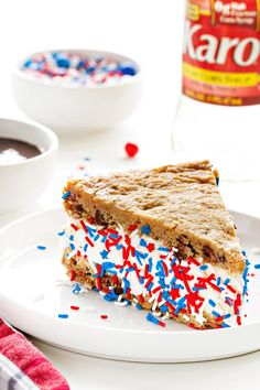 Chocolate Chip Cookie Ice Cream Sandwich Cake can be made with your favorite ice cream. Customize it to however you like! Sponsored by Karo Syrup.