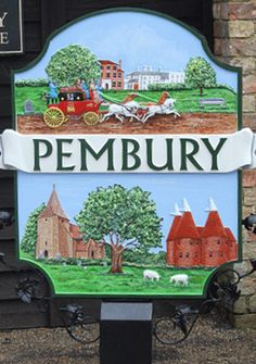 We're experts in manufacturing village signs, which are used to mark the centre of a village or town, often depicting the area's history and culture. Art Village, England Ireland, English Village, Decorative Signs, Signage Design, Built Environment, Shop Signs, Artist Painting, Geography
