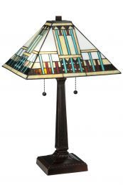 Turquoise Mission Table Lamp