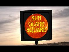 """Sun Glare Square is a simple 4"""" square suction cup that blocks sun glare when applied to any window & easily moveable with one finger."""