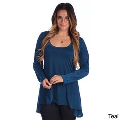 @Overstock - 24/7 Comfort Apparel Plus Size Women's Printed Long Sleeve High-Low Tunic Top - This high-low tunic solid color Plus Size top from 24/7 Comfort Apparel features a scoop neck and long sleeves for a perfect fit on every figure. Stylish and flattering, this top is sure to captivate everyone at any event throughout the year.  http://www.overstock.com/Clothing-Shoes/24-7-Comfort-Apparel-Plus-Size-Womens-Printed-Long-Sleeve-High-Low-Tunic-Top/8611981/product.html?CID=214117 $25.99