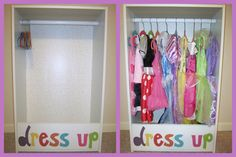 Dress Up Closet - made using $18 bookcase from Target