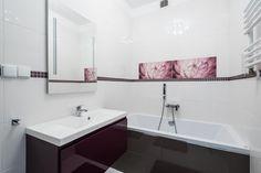 Nowoczesna łazienka z doskonale dobranymi kolorami. Łazienkę tą odnajdziemy w Bielsku-Białej przy ulicy Kochanowskiego.