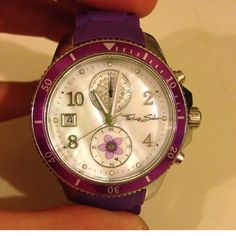 Thomas sabo watch Purple silicone band water resistant stop watch date and time . Thomas sabo Accessories Watches