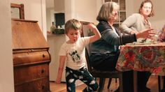 BOSTON—Noting his short outbursts of laughter as he charged across the house, sources confirmed Saturday that pajama-clad 5-year-old Lucas Mason made a turbulent rampage through a dinner party hosted by his parents.
