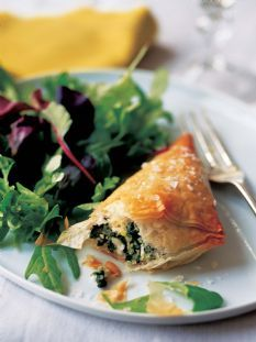 Dinner Spanakopita. These are so tasty. They freeze well to make ahead and bake when desired!