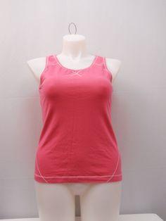ebf6e5f5d94c2 Danskin Womens Top Size XL 16-18 Pink Sleeveless Scoop Neck Athletic Wear  Yoga