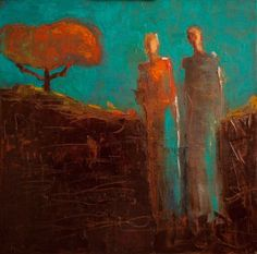"""""""Life Together"""" by Shelby McQuilkin abstract figurative oil painting"""