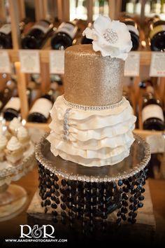 Bridal Shower | Wedding Cake | Cake Goodness Treats | Gold & Ivory | Valencia Wine Company | R and R Creative Photography
