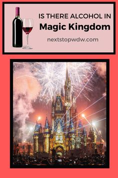 You can now find alcoholic drinks in Magic Kingdom but only at select locations. Let's take a look at where you can find a glass of wine or a beer in Magic Kingdom. Disney World Guide, Disney World Vacation Planning, Disney World Theme Parks, Disney World Food, Disney World Restaurants, Disney World Tips And Tricks, Disney World Resorts, Disney Vacations, Magic Kingdom Secrets