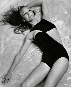 Triumph International Swimwear, 1960's. Not sure who model is...looks like Camilla Sparv.