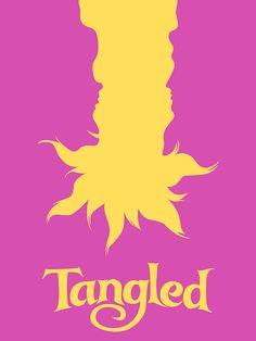 Tangled Minimalist Poster | Poster minimalista Enredados | @dgiiirls