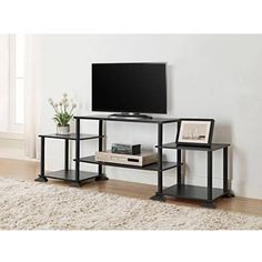 """Mainstays No Tools 3-Cube Storage Entertainment Center for TVs up to 40"""""""