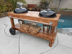 Weber Charcoal Grill Outdoor Kitchen - Whether you're improving your home for the resale value or on your household 's conti Table Grill, Grill Cart, Grill Stand, Weber Charcoal Grill, Charcoal Bbq, Bar Design, Grill Design, Design Ideas, Barbecue Weber