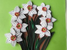 Quilled flowers wall decor White flowers wall by georgianacristea, $50.00