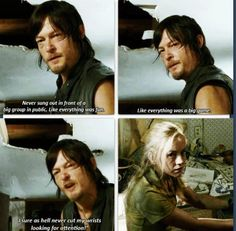 """The Walking Dead 4x12. """"I sure as hell never cut my wrists for attention."""""""