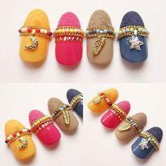 Native American inspired nail art
