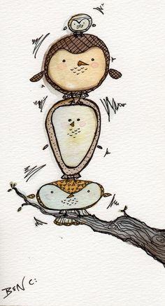owls by BenCPanda.deviantart.com on @deviantART