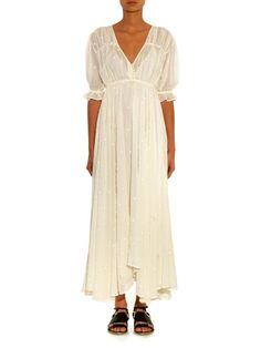 Mes Demoiselles Louise embroidered cotton-gauze dress