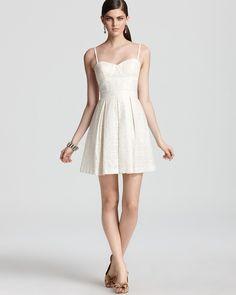 Aqua Lace Dress - Strapless | Bloomingdale's