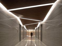 Spark Architects Perspective on Modern Architecture - CEILING Lobby Design, Design Entrée, Flur Design, Plafond Design, Design Ideas, Design Projects, Architecture Design, Light Architecture, House Ceiling Design