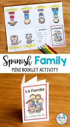 Spanish Family mini booklet activity.